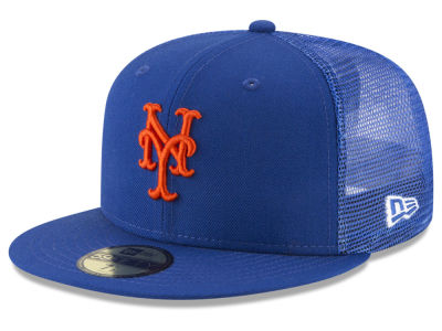New York Mets New Era MLB On-Field Mesh Back 59FIFTY Cap