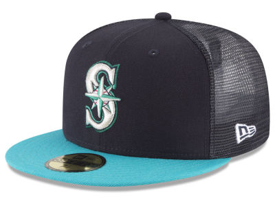 Seattle Mariners New Era MLB On-Field Mesh Back 59FIFTY Cap