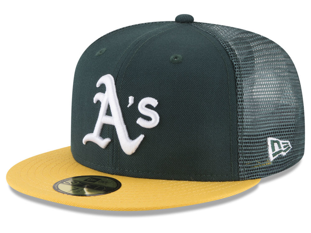 Oakland Athletics New Era MLB On-Field Mesh Back 59FIFTY Cap  89d35149c49