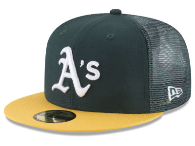 Oakland Athletics New Era MLB On-Field Mesh Back 59FIFTY Cap