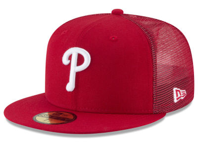 Philadelphia Phillies New Era MLB On-Field Mesh Back 59FIFTY Cap