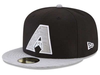 Arizona Diamondbacks New Era MLB Black Heather 59FIFTY Cap