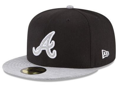 Atlanta Braves New Era MLB Black Heather 59FIFTY Cap