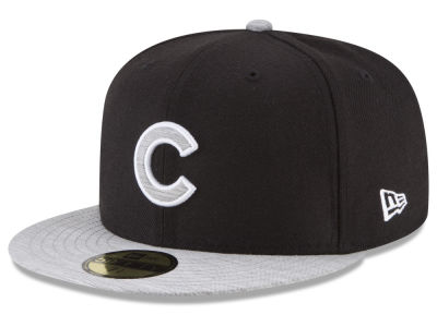 Chicago Cubs New Era MLB Black Heather 59FIFTY Cap
