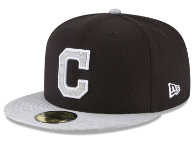 Cleveland Indians New Era MLB Black Heather 59FIFTY Cap