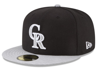 Colorado Rockies New Era MLB Black Heather 59FIFTY Cap