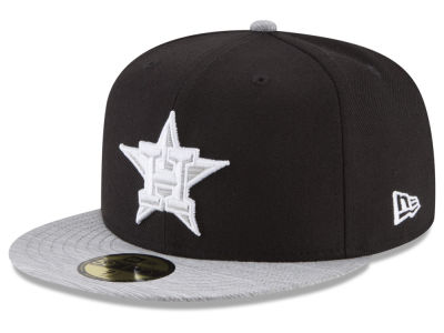 Houston Astros New Era MLB Black Heather 59FIFTY Cap