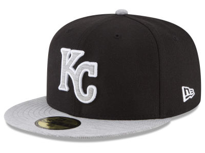 Kansas City Royals New Era MLB Black Heather 59FIFTY Cap