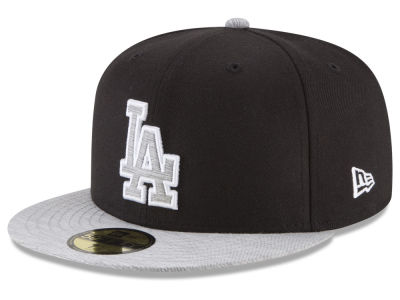 Los Angeles Dodgers New Era MLB Black Heather 59FIFTY Cap