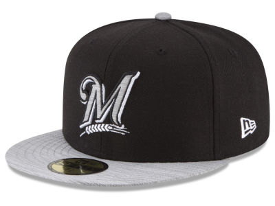 Milwaukee Brewers New Era MLB Black Heather 59FIFTY Cap