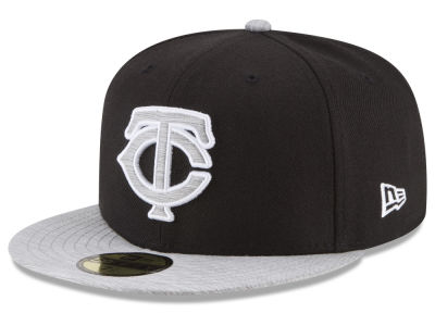 Minnesota Twins New Era MLB Black Heather 59FIFTY Cap