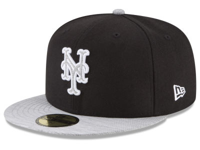 New York Mets New Era MLB Black Heather 59FIFTY Cap