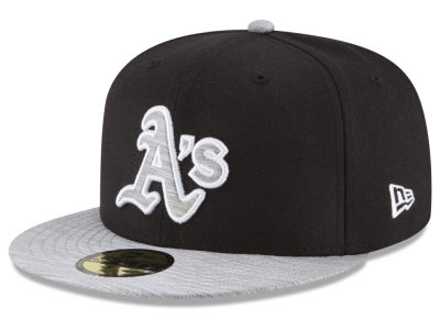 Oakland Athletics New Era MLB Black Heather 59FIFTY Cap