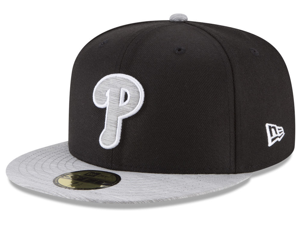 new product 3e0d4 4fd11 france philadelphia phillies new era mlb black heather 59fifty cap b4247  ee2f2