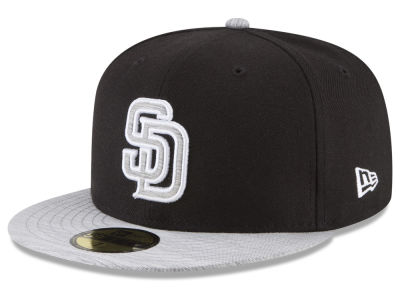 San Diego Padres New Era MLB Black Heather 59FIFTY Cap