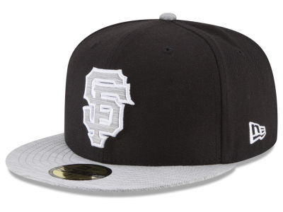 San Francisco Giants New Era MLB Black Heather 59FIFTY Cap