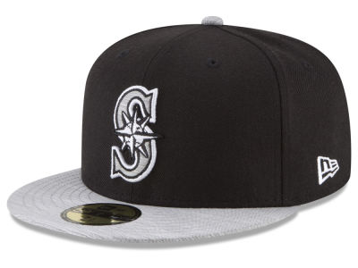 Seattle Mariners New Era MLB Black Heather 59FIFTY Cap