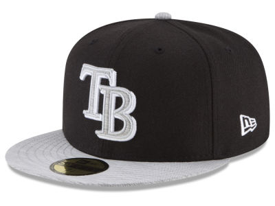 Tampa Bay Rays New Era MLB Black Heather 59FIFTY Cap