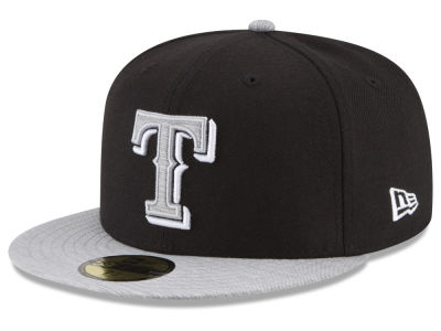 Texas Rangers New Era MLB Black Heather 59FIFTY Cap