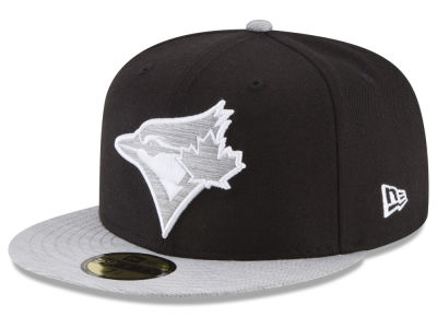 Toronto Blue Jays New Era MLB Black Heather 59FIFTY Cap