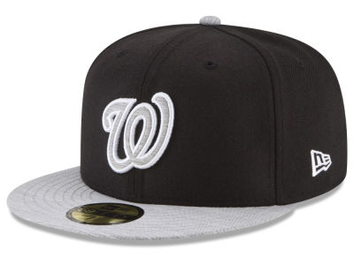 Washington Nationals New Era MLB Black Heather 59FIFTY Cap