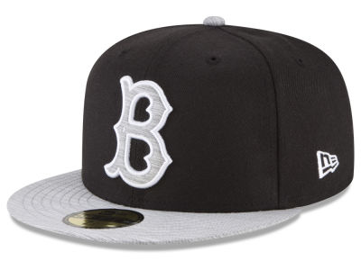Brooklyn Dodgers New Era MLB Black Heather Coop 59FIFTY Cap