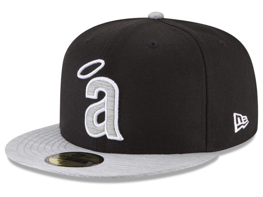 outlet store 57382 51548 ... usa los angeles angels new era mlb black heather coop 59fifty cap cc5f0  f5e5d