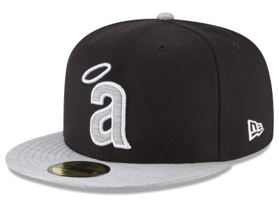 Los Angeles Angels New Era MLB Black Heather Coop 59FIFTY Cap