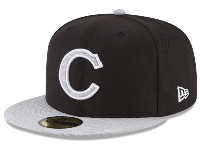 Chicago Cubs New Era MLB Black Heather Coop 59FIFTY Cap