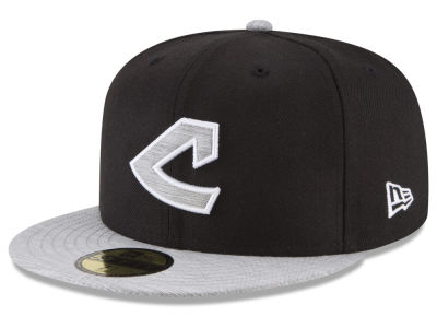 Cleveland Indians New Era MLB Black Heather Coop 59FIFTY Cap