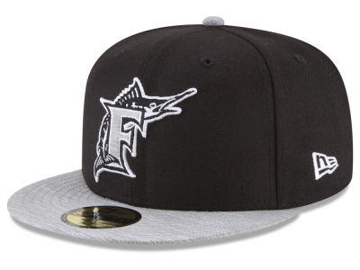 Florida Marlins New Era MLB Black Heather Coop 59FIFTY Cap