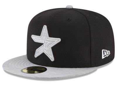Houston Astros New Era MLB Black Heather Coop 59FIFTY Cap