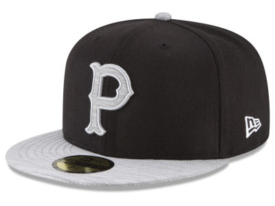 Pittsburgh Pirates New Era MLB Black Heather Coop 59FIFTY Cap
