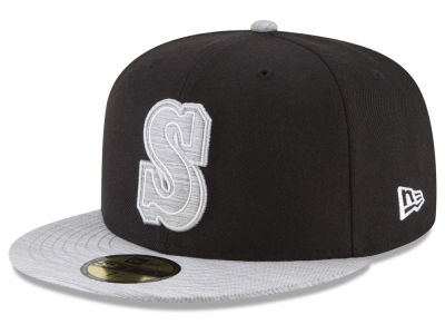 Seattle Mariners New Era MLB Black Heather Coop 59FIFTY Cap