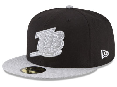 Tampa Bay Rays New Era MLB Black Heather Coop 59FIFTY Cap