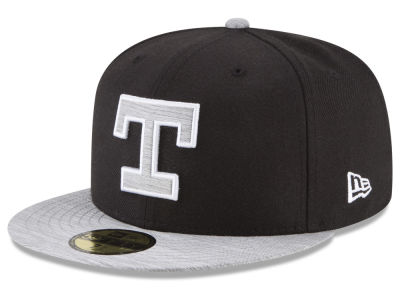 Texas Rangers New Era MLB Black Heather Coop 59FIFTY Cap