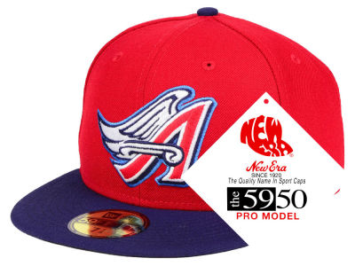 Los Angeles Angels New Era MLB Turn Ahead The Clock 59FIFTY Cap