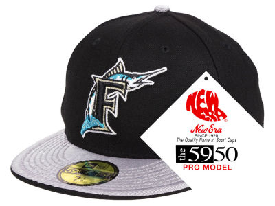 Florida Marlins New Era MLB Turn Ahead The Clock 59FIFTY Cap