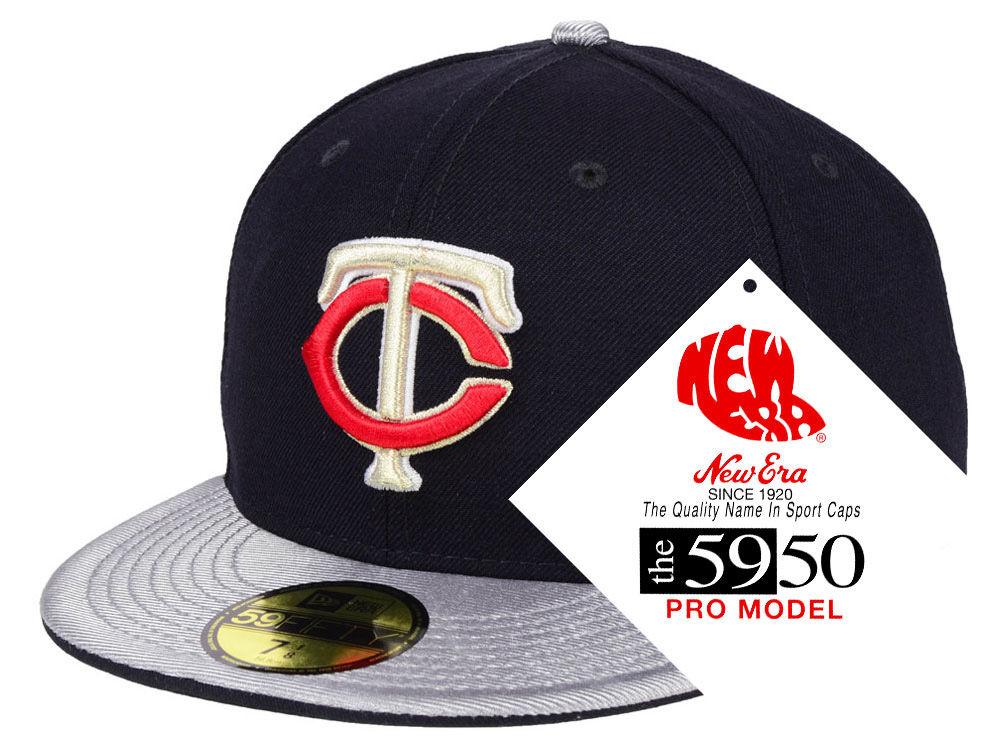 Minnesota Twins New Era MLB Turn Ahead The Clock 59FIFTY Cap  57394bc2f093
