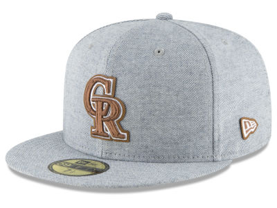 Colorado Rockies New Era MLB Butter Fill 59FIFTY Cap