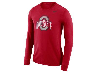 9f0f2efe Nike NCAA Men's Dri-Fit Cotton Logo Long Sleeve T-Shirt Apparel at  OhioStateBuckeyes.com
