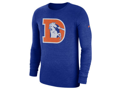 Denver Broncos Nike NFL Men's Historic Crackle Long Sleeve Tri-blend T-Shirt