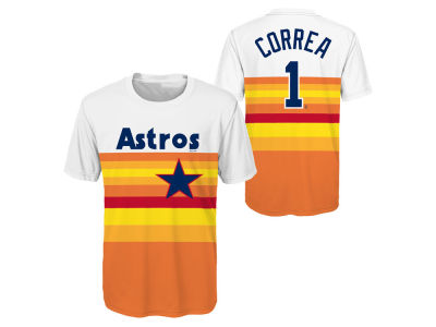 Houston Astros Carlos Correa MLB Youth Coop Poly Player T-Shirt
