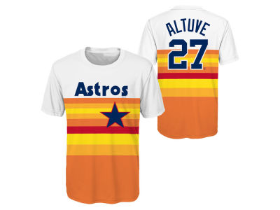 Houston Astros Jose Altuve Majestic MLB Youth Coop Poly Player T-Shirt