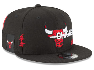 Chicago Bulls New Era NBA Strikethru 9FIFTY Snapback Cap