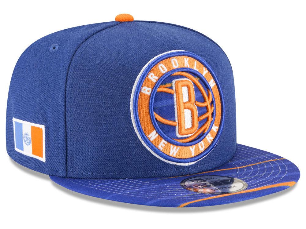5d0544ca715 Brooklyn Nets New Era NBA City Flag 9FIFTY Snapback Cap