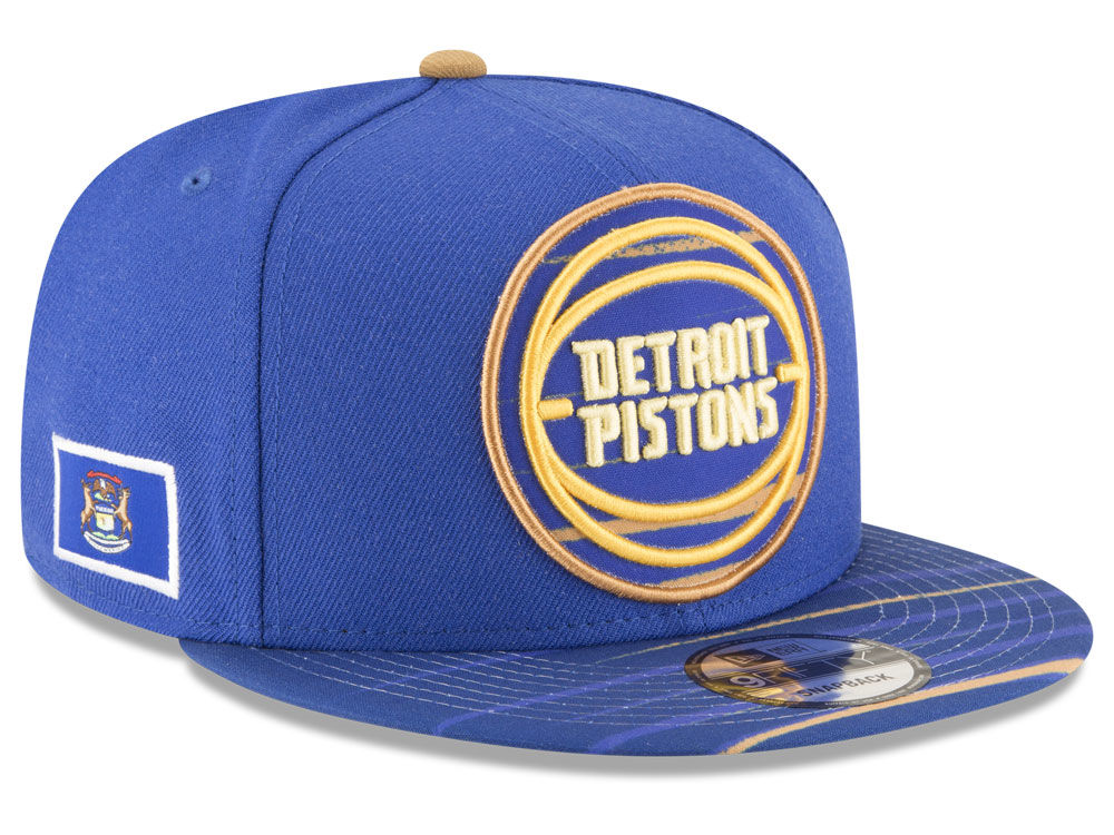 90960dadf Detroit Pistons New Era NBA City Flag 9FIFTY Snapback Cap