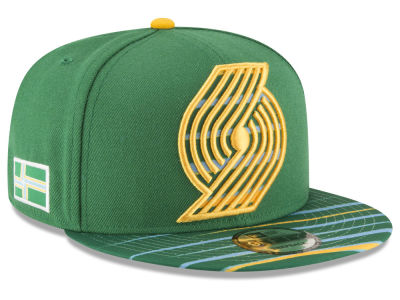 Portland Trail Blazers New Era NBA City Flag 9FIFTY Snapback Cap