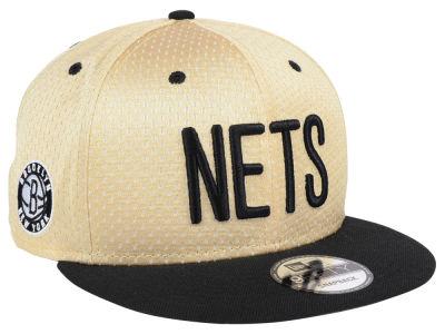 Brooklyn Nets New Era NBA Champagne 9FIFTY Snapback Cap 8b914fd02e45
