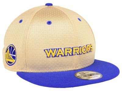 Golden State Warriors New Era NBA Champagne 9FIFTY Snapback Cap